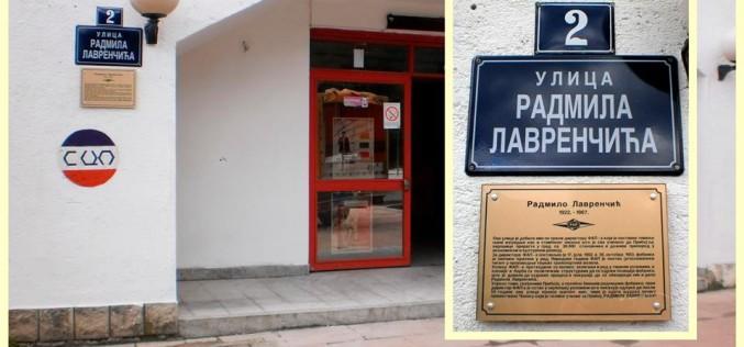 Постављена спомен табла у част Радмилу Лавренчићу